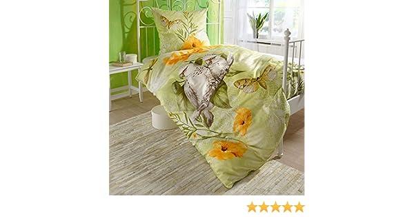 Fröhliche Bettwäsche Papagei 135x200 Bettwaren, -wäsche & Matratzen Möbel & Wohnen