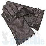 BW Ziegenleder Handschuhe Leder S-M-L-XL-XXL-3XL schwarz gefüttert Bundeswehr Fingerhandschuhe Lederfingerhandschuhe (Größe: 11 (XXL), Schwarz)