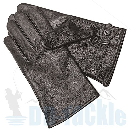 BW Ziegenleder Handschuhe Leder S-M-L-XL-XXL-3XL schwarz gefüttert Bundeswehr Fingerhandschuhe Lederfingerhandschuhe (Größe: 10 (XL),...