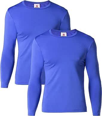 LAPASA Uomo T-Shirt Termica Pacco da 2 o 1 –Ti Tiene al Caldo Senza Stress- Intimo Maniche Lunghe Invernale Lightweight M09