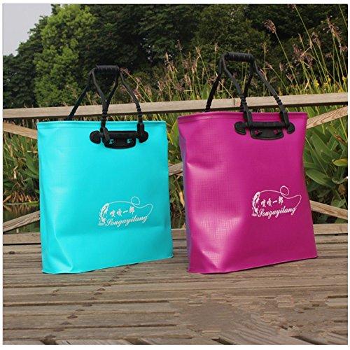 Dick wasserdichte Eimer Tasche Multifunktionale EVA Fischpflege Handtasche (Rose Rot) (Damen Fanggeräte)