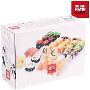Appetitissime Matik stampi per sushi, Bianco, 21x 15.1x 8.4cm, 10pezzi