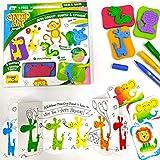 Imagimake Stamp Art - Jungle - DIY Kids Art Set - for Girls and Boys 3 Years+
