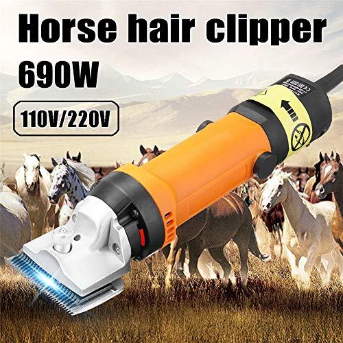 GMtes Professionelle elektrische Pferdeschere Pferdehaarschneider, 690W & 6-Fach verstellbar, für Pelzraspeln in Esel-Alpakas-Lamas und Anderen landwirtschaftlichen Nutztieren,EU220V