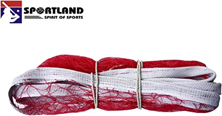 Shiv shakti Traders Badminton Net Nylon, Niwar, Tetron with 4 Side Tape for Indoor Outdoor Tournaments Practice Matches, Standard(Red, SST_BMN)