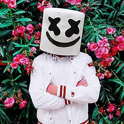 Supmaker Marshmello Cosplay Mask, Marshmello Helmet DJ masks Party Props for Marshmello Fans by Supmaker