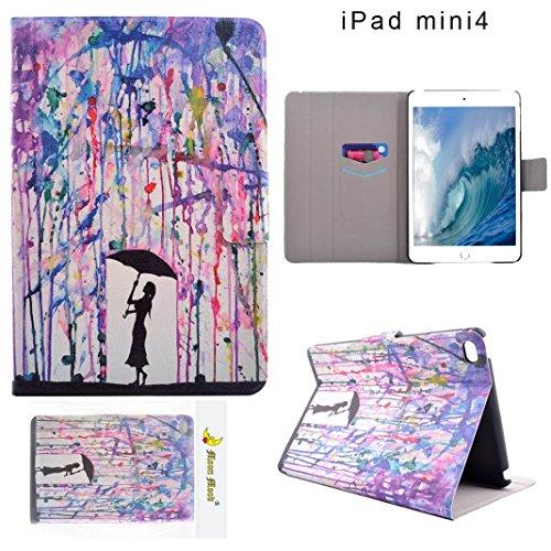 iPad Mini 4 Coque, Moon mood® Etui a Rabat pour iPad Mini Protection Housse Case Slim Mince Coque pour Apple Apple iPad Mini 4 7.9 pouces Flip Cover Tablette Coque Pochette en PU Cuir
