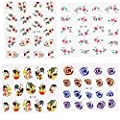 Bluelover Flower Skull Rabbit Design Nail Sticker Aufkleber