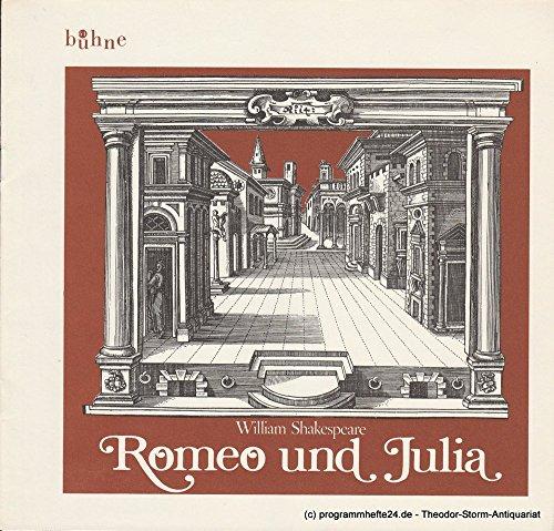 Programmheft Romeo und Julia von William (Romeo Julia Kostüm Und Romeo)