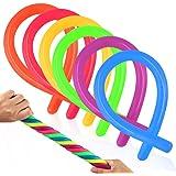 Coogam 6 Pack Stretchy String Sensory Toys - Alivia el estrés y Aumenta la Paciencia, Tira - Bueno para niños con Add, ADHD o