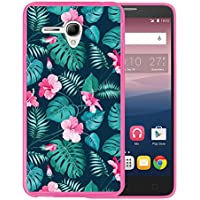 Funda Alcatel OneTouch Pop 3 5.5, WoowCase [ Alcatel OneTouch Pop 3 5.5 ] Funda Silicona Gel Flexible Flores Tropicales 2, Carcasa Case TPU Silicona - Rosa