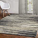 "A2Z Rug Contemporary Grey Palma 1495 Collection Area Rugs 160x230 cm - 5'3""x7'6"" ft"