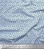 Soimoi Blau Baumwoll-Popeline Stoff dot & Wal Ozean Stoff