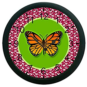 meSleep Butterfly Wall Clock (With Glass)