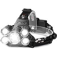 Lampe frontale à LED avec USB, neolight LED Lampe frontale lampe frontale rechargeable étanche avec 4modes Idéal pour randonnée, pêche, escalade, cyclisme, d'urgence