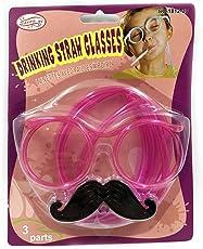 Paglia Divertente Creativo Cannuccia per Occhiali Barba di Paglia Attrezzatura per Feste Paglia Creativa