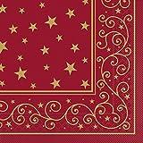 Sovie HORECA Tissue-Serviette Liam 40x40 cm / saugstarke und hochwertige Einweg-Servietten / ideal für Weihnachten (Bordeaux)