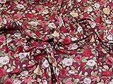 Traditioneller Blumendruck Baumwolle Popeline Stoff,