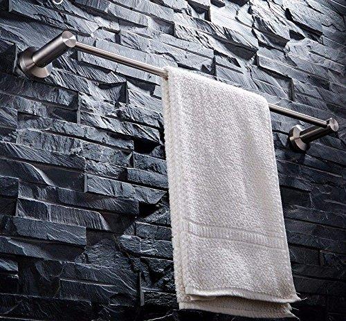 ahl gebürstet WC Badezimmer Handtuchhalter Mount Single Rod Handtuch Kolbenstange aus Punch, Edelstahl, Einhebelsteuerung, Punch, 71 cm ()