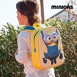 Artesanía Cerdá 2100001413 Minions Mochila Infantil, Color Amarillo