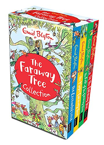 Enid Blyton The Magic Faraway Tree Collection 4 Books Box Set Pack (Up The Faraway Tree, The Magic Faraway Tree, The Folk of the Faraway Tree, The Enchanted Wood) - Enchanted Woods