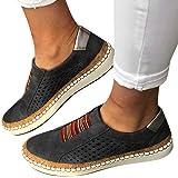BIBOKAOKE Damen Casual Sneakers Slip-On Faule Schuhe Hohle Atmungsaktive Einzelschuhe Turnschuhe Walking Jogging Outdoor Flac