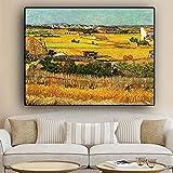 Van Gogh Landschaft Ölgemälde, Leinwand Poster und Druckwand Wohnzimmer dekorative Gemälde Replik (Kein Rahmen) T1 60x90CM