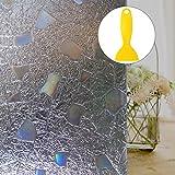 Fensterfolie, Outgeek Glas haftend 3D Dekorativ Statisch Nicht Klebend Hitze Kontrolle Privatleben Film mit Gerader Griffrakel