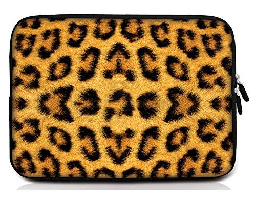 Sidorenko 10,1-10,2 Zoll Tablet Hülle - Tasche aus Neopren, Gelb / Schwarz, 42 Designs zur Auswahl