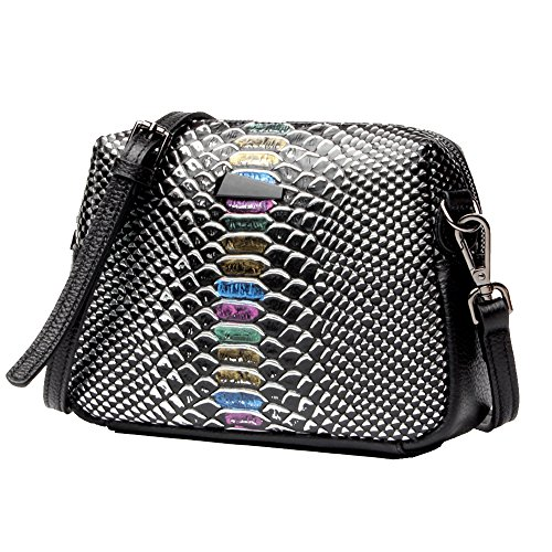 Anne, Borsa a spalla donna nero Silver color