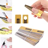 Ealicere 220 pcs Nail Forms-UV Gel Nail Art Tips Extension Forms Manicure Design Paper Tray Accessory