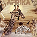 Artland Analoge Wand-Funk-oder Quarz-Uhr Digital-Druck Leinwand auf Holz-Rahmen gespannt mit Motiv S. L. Afrika - Collage Tiere Wildtiere Collage Braun A1LZ