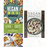vegan recipes from the middle east,vegan on the go [hardcover ]and vegan cookbook for beginners 3 books collection set -keep it delicious & simple calorie counted with new vegan diet essential