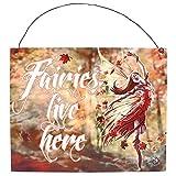 Wandschriftzug, Metall: Autumn Fairy von Anne Stokes