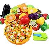 JPSOR set di 24pcs giocattoli educativi di RPG per tagliare frutta e verdura per i bambini