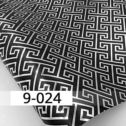 LFBIZHI PVC tief geprägte Splitter Goldfolie 3D Tapetenrolle Glitter Tapete für Wände Home Decoration Waterproof 5.3㎡ 9-024