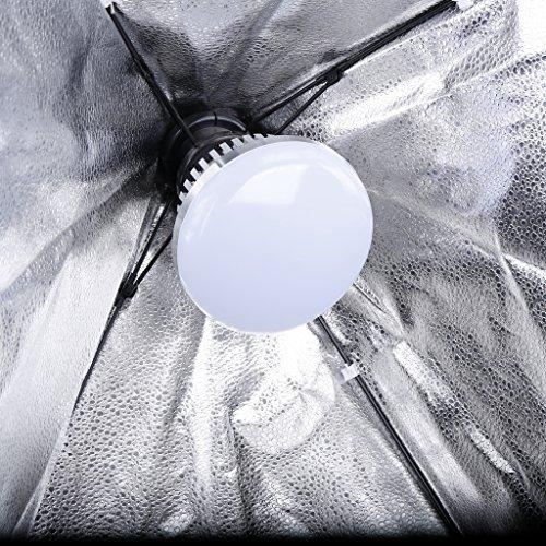 Professionelle Fotografie LED E27Leuchtmittel (65W, 5.500K), flimmerfrei, Softbox, für Foto Studio und Online Celebrity, für Portrait und Artikel zu Beleuchtung - 6