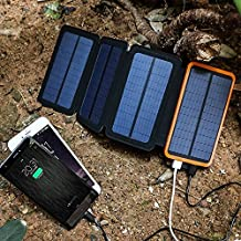 Solar Panel Mobile Charger 8000 MAH with 4 Foldable units
