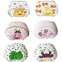 Lazzon Culottes d'apprentissage en Coton Lavable pour Bébé Fille Garçon 1-3 Ans