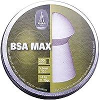 BSA Max .22 5.5mm 200 Afilado Pesado Pellets Escopeta aire comprimido Rifle Aire Caza Blanco 22