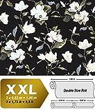 Blumen Tapete EDEM 9000-29 Vliestapete geprägt im romantischen Design matt schwarz creme-weiß beige grün 10,65 m2