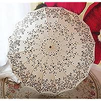 ssby alluminio Clean Vintage ombrelli in estate, lungo ombrello antivento 16ossa ombrello donna super ombrello, resistente e portatile, rosso