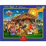 Spiegelburg Puzzle con Marco de 24 piezas En El Pesebre Navidad