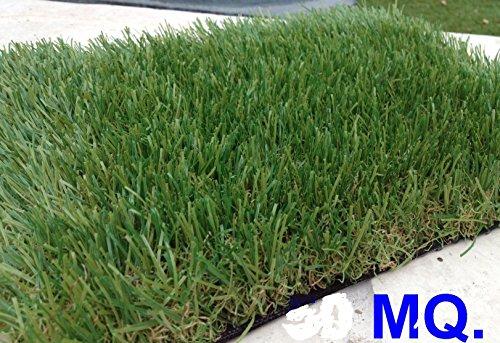 Prato erba sintetica 40 mm made europa passatoia larghezza 2 lunghezza 10 metri