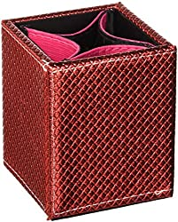 Tootsie Red : SHANY 2-in-1 Patterned Makeup Brush Holder with Removable Cosmetics Organizer Insert, Tootsie Red, 0.53 Pound