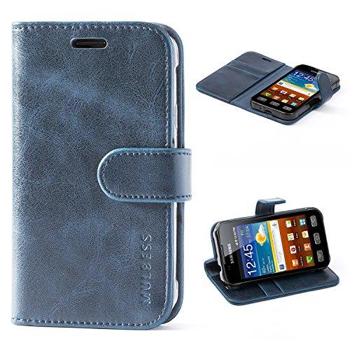 Mulbess Handyhülle für Samsung Galaxy XCover 3 Hülle, Leder Flip Case Schutzhülle für Samsung Galaxy XCover 3 Tasche, Dunkel Blau