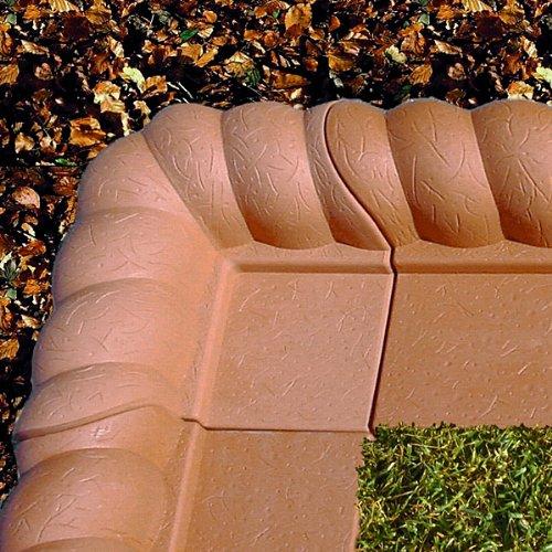Rasenkante Linke-Kurve 2er-Set terrakottafarben