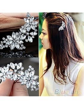 Hochzeitsschmuck Haarspange Silber Modeschmuck Kristallsteine Versand aus Deutschland