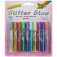 Max Bringmann 574, glitter glue glue sticks, 10x 9.5ml in 10trendy colours