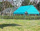 WOLTU® Freigehege HT2067m1-a Laufstall Gehege Kleintiergehege Welpenauslauf mit Ausbruchsperre 220 x 103 x 103 cm, mit Abdeckung, inkl. Sonnenschutz, Verzinkte Ausführung - 3